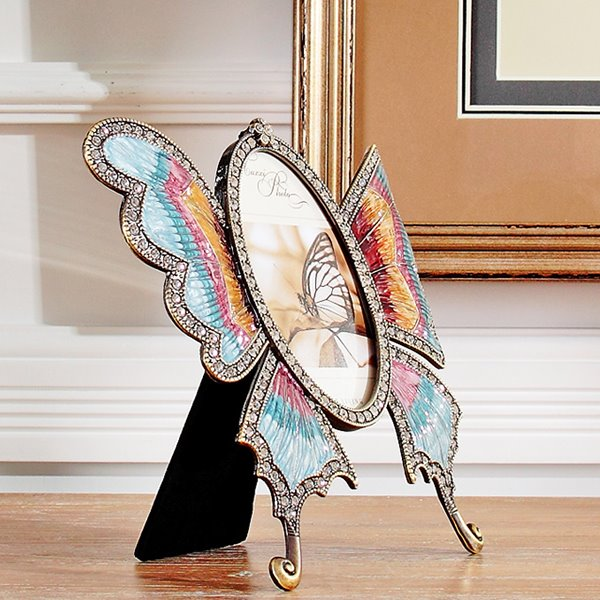 Simple Modern European Style Alloy Butterfly Design Photo Frame