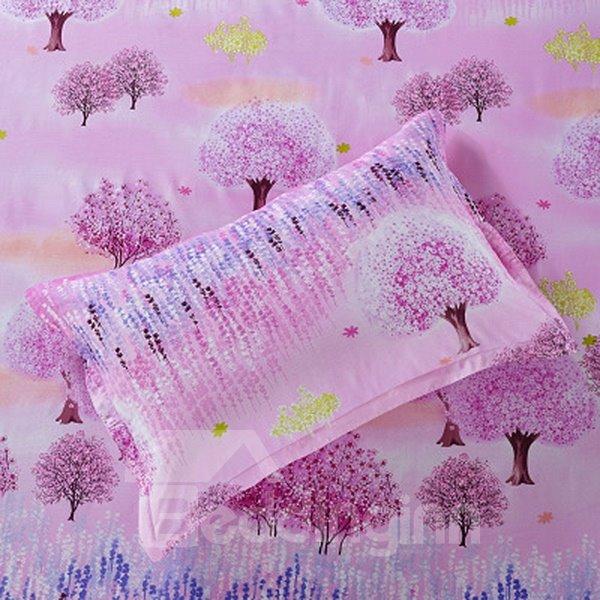 Cozy Dreamlike Tree Pattern Cotton 2-Piece Pillow Cases