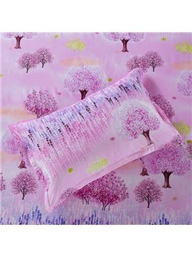 Cozy Dreamlike Tree Pattern Cotton 2-Piece Pillow Cases