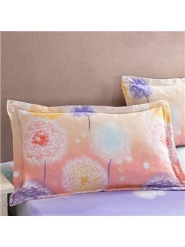 Unique Dreamy Dandelion Pattern Cotton 2-Piece Pillow Cases