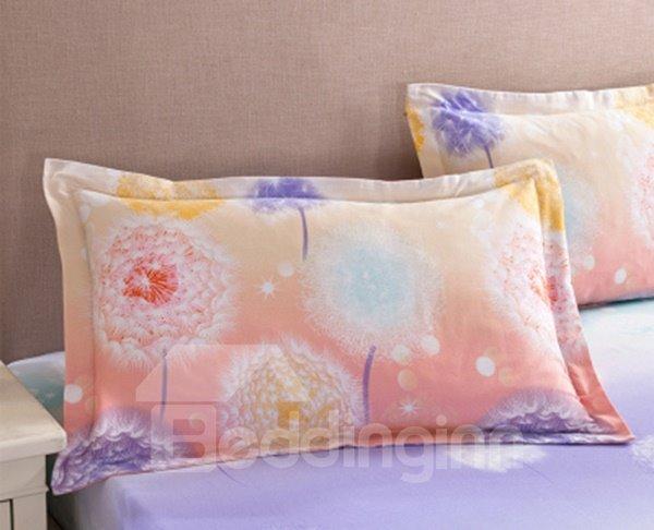 Unique Dreamy Dandelion Pattern Cotton 2-Piece Pillow Cases
