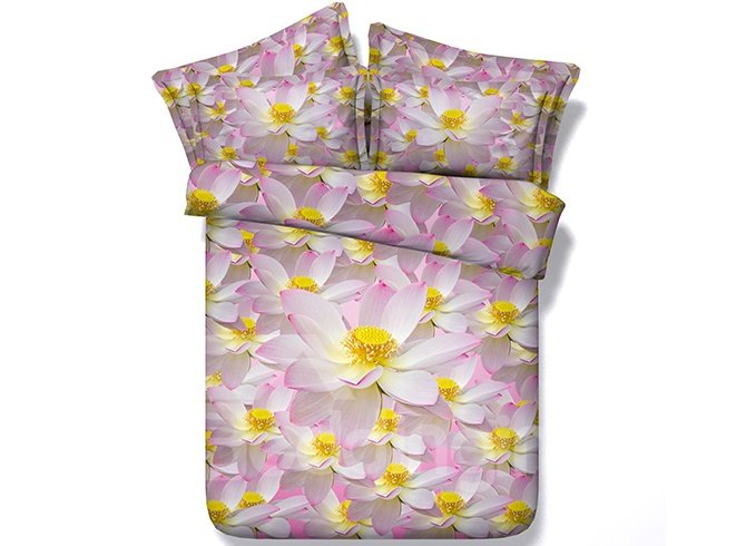 Special Design Beautiful Flowers Print 3D Bedding Sets