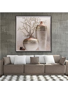 Beautiful Three-dimensional Flower Vase Sculpture Wall Art Prints