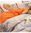 Silvan Birds and Trees 4-Piece Print Cotton Bedding Set