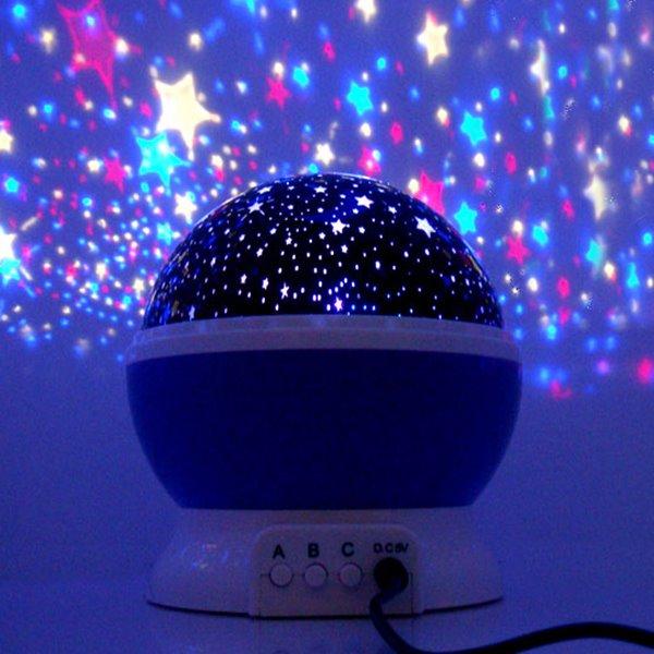 Creative Romantic Stars Projector USB LED Night Light