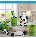 Creative Cartoon Panda Pattern Five Pieces Bathroom Accessories