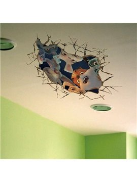 Creative Animal 3D Wall Stickers for Children's Room Decoration