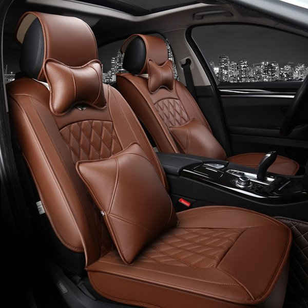 Classic Business Style And Variety Solid Color Design Car Seat Covers