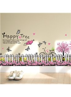 Creative Romantic Butterfly and Flower Wall Stickers