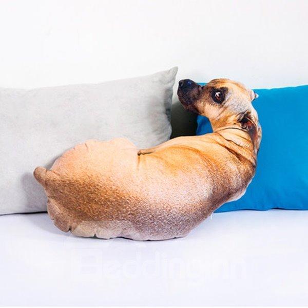 Funny Lifelike Puppy Shape Design Throw Pillow