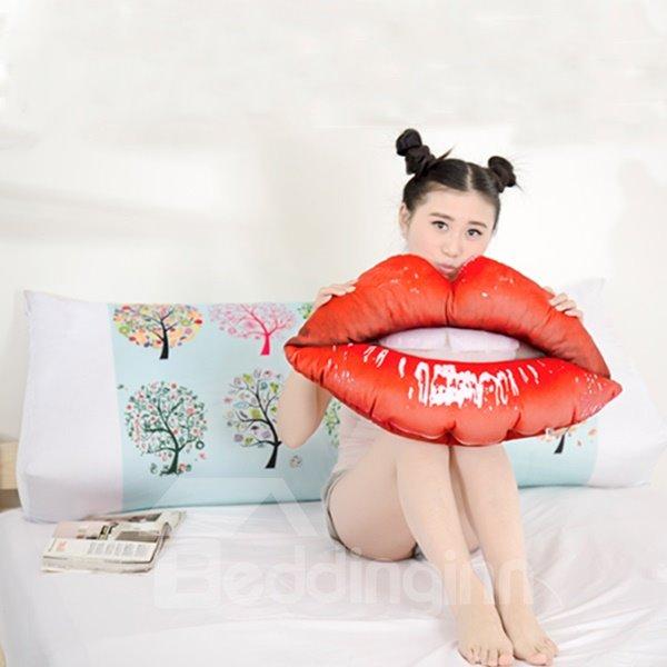 Popular Vivid Lips Shape Plush Throw Pillows