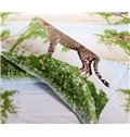 Top Class Vivid Leopard Print 4-Piece Cotton Duvet Cover Sets