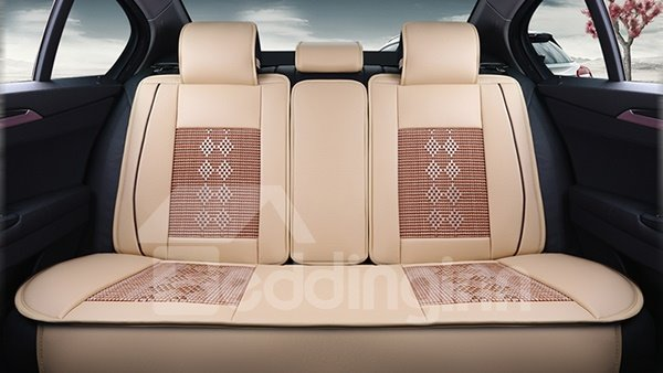 Ice Silk And Leather Materials Car Seat Covers