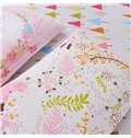 New Arrival Lovely Pink Fox Cotton 4-Piece Duvet Cover Sets