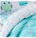 High-grade Zodiac Pattern Blue 4-Piece Cotton Duvet Cover Sets