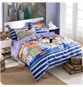 Modern Fashion Unique Clothes Print 4-Piece Pure Cotton Duvet Cover Sets