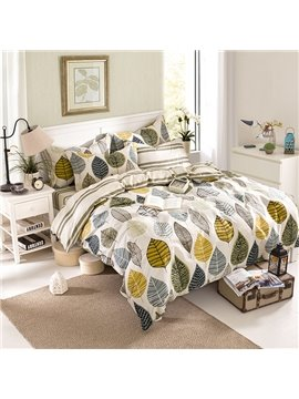 Excellent Concise Tree Print 4-Piece 100% Cotton Duvet Cover Sets