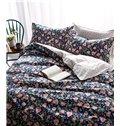 Singular Beauty Flowerlet Print 4-Piece Pure Cotton Duvet Cover Sets
