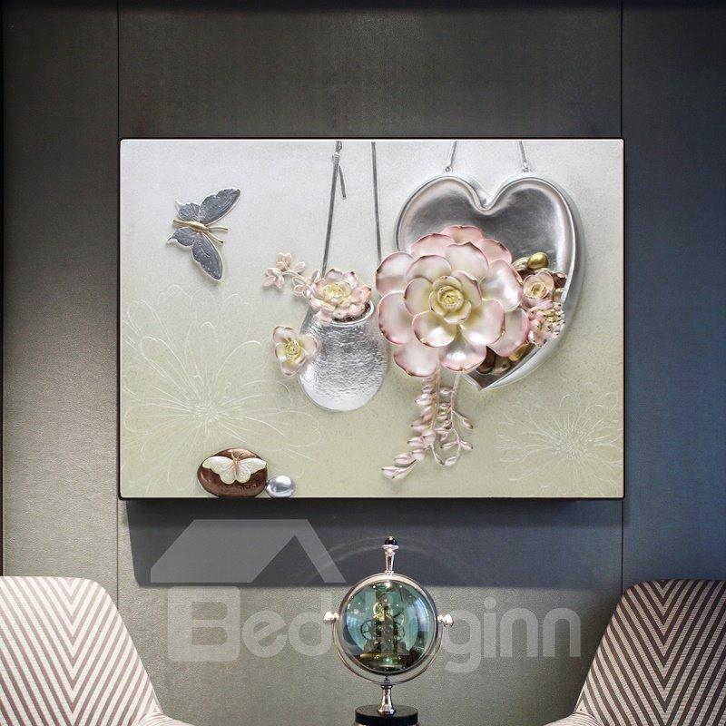 Modern Simple Three-dimensional Flower Wall Print