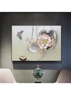 Modern Simple Three-dimensional Flower Wall Print