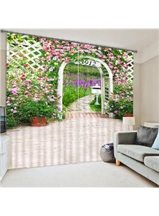 A Entrance to the Secret Garden Print 3D Blackout Curtain