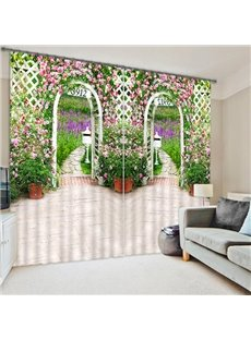 Two Doors to the Garden Print 3D Blackout Curtain