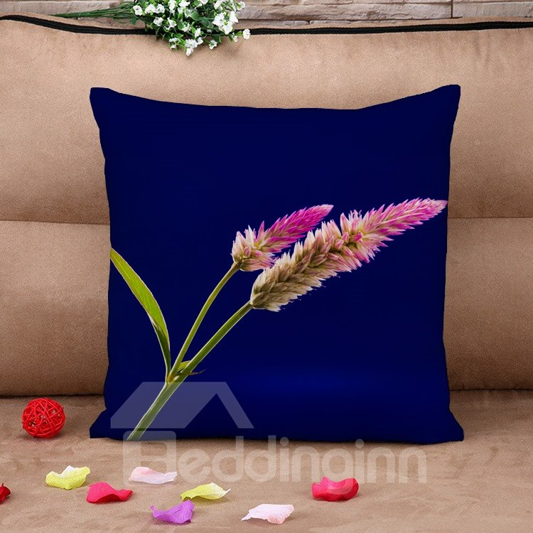 Natural Dog Tail Grass Cotton Throw Pillow Case