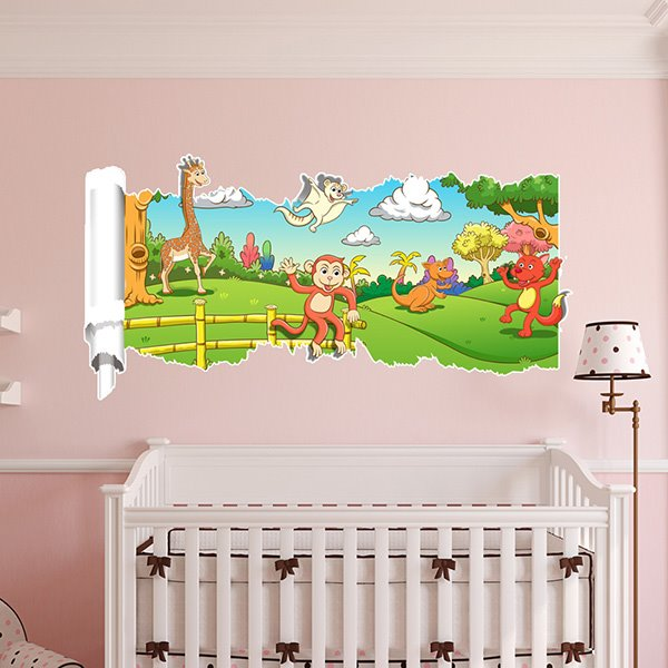 New Arrival Animal Pattern 3D Wall Stickers