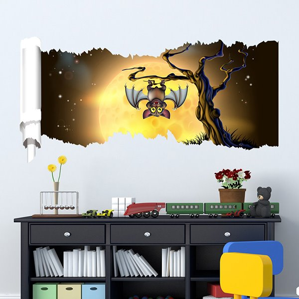 New Arrival Creative Night Bat 3D Wall Stickers for Room Decoration