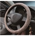 Superfine Flax Material And Easy Installation Steering Wheel Covers