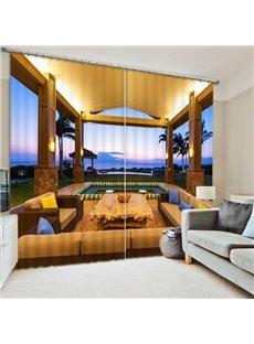 Luxurious Open-air Pavilion Printing 3D Curtain