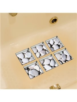 Hot Sale Flat White Stone 3D Bathtub Stickers