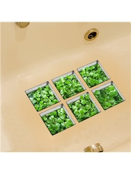 Hot Sale Green Grass 3D Bathtub Stickers For Room Decoration