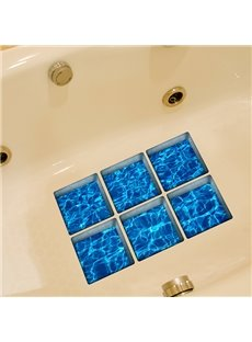 New Arrival Sea Water Pattern 3D Bathtub Stickers for Bathroom Decoration