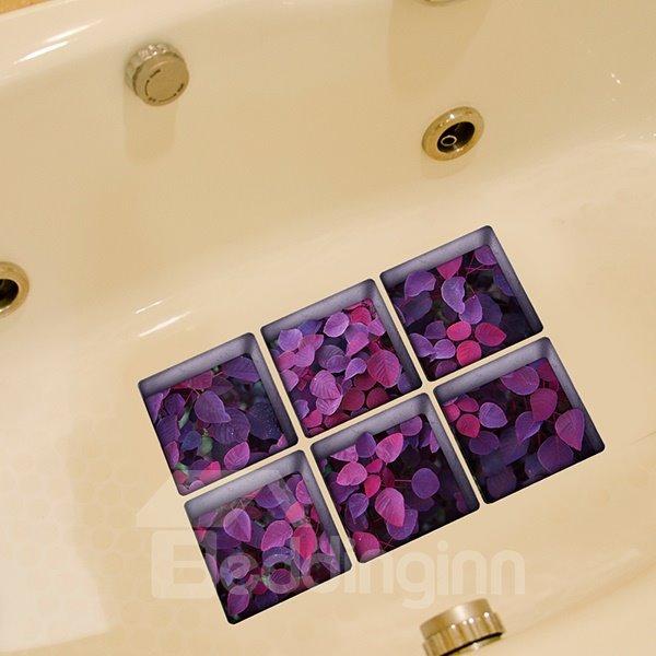 Hot Sale Flower Pattern 3D Bathtub Stickers