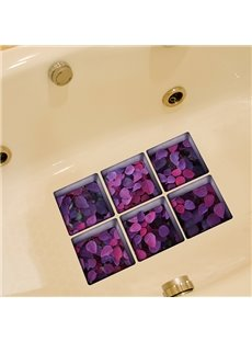 Hot Sale Flower Pattern 3D Bathtub Stickers