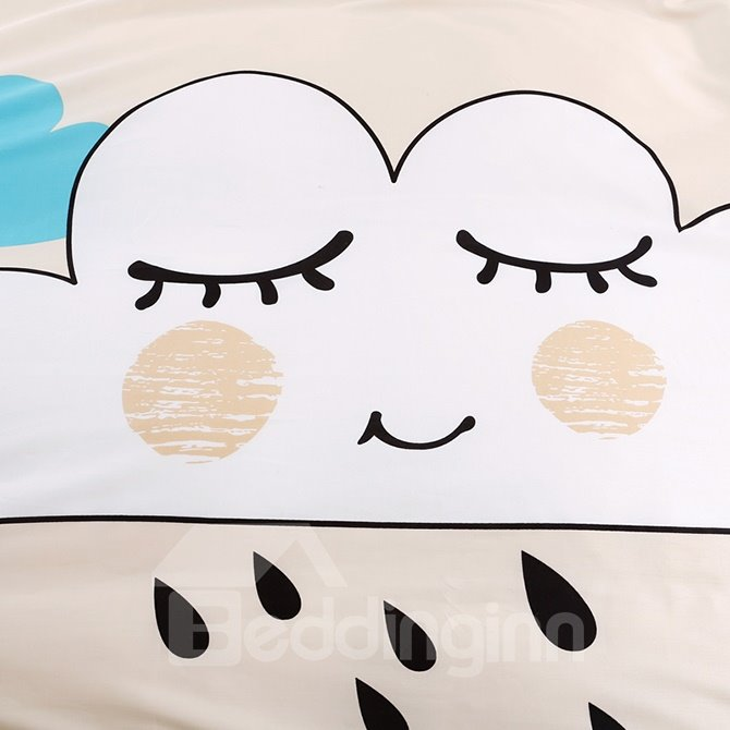 New Charming Cartoon Expression 4-Piece Active Print Cotton Bedding Sets