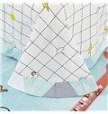 New Arrival Popular Panda Print Cotton 4-Piece Duvet Cover Sets