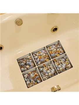 New Arrival Amazing Sea Shell Pattern 3D Bathtub Stickers