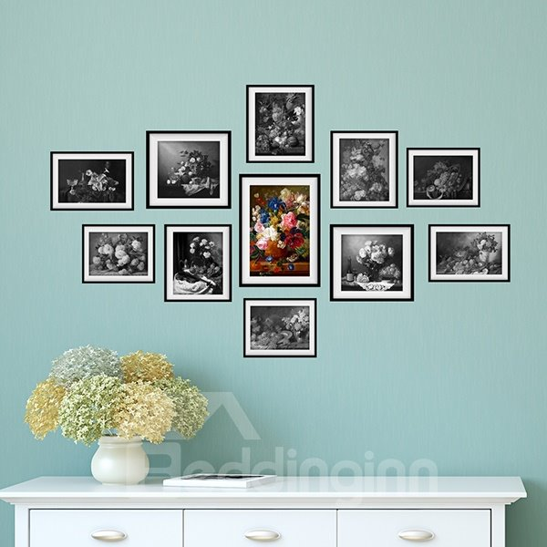 Wonderful WaterProof Oil painting and Sketch Pattern Wall Stickers
