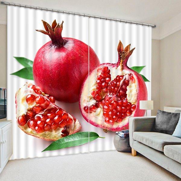 Delicious Fresh Pomegranate Print 3D Blackout Curtain