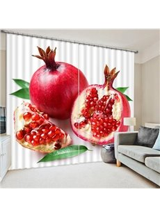 Delicious Fresh Pomegranate Print 3D Blackout Curtain