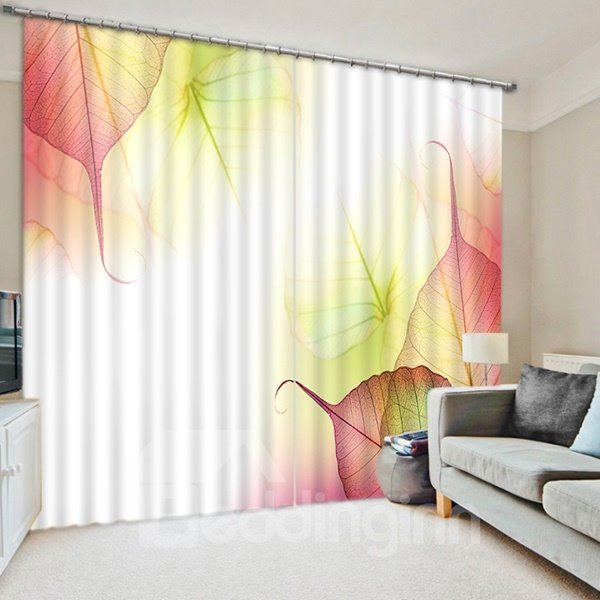 The Colored Veins Print 3D Blackout Curtain