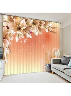 Impressive Pear Flower Print 3D Blackout Curtain