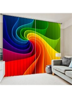 Unique Design Color Eddy Print 3D Blackout Curtain