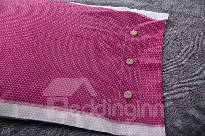 Top Grade Colorful Stripes Cotton 4-Piece Duvet Cover Sets
