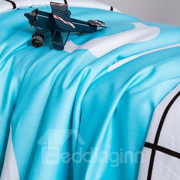 High Class Unique Design Blue Cotton Summer Quilts