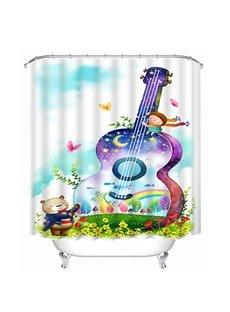 Colorful Violoncello Print 3D Shower Curtain