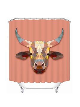 Creative Design Cow Print 3D Bathroom Shower Curtain