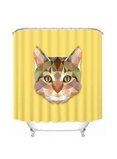 Creative Design Cat Print 3D Bathroom Shower Curtain